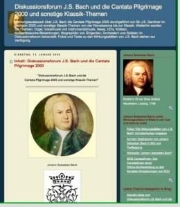 Ansicht vom Alt-Forum Diskussionsforum J.S. Bach