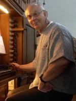 Konzert-Organist Ewald Kooiman Aufnahme während der Einspielung Gesamt-Orgelwerke J.S. Bach im Elsass (Fotorechte Label aeolus.music.com)