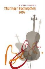 "Flyer ""Thüringer Bachwoche 2009"""