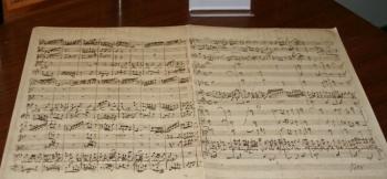"""Foto: Originalpartitur von J.S. Bach, Kantate BWV 22 """"Jesus nahm zu sich"""""""