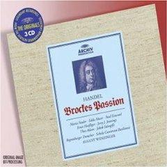 Cover: Brockes Passion Händel, Wenzinger, Regensburger Domsp. von 2002