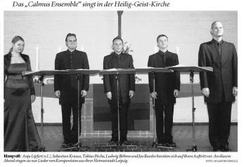 Foto: Das Calmus Ensemble in Bad Oeynhausen (Fotorechte:NW)