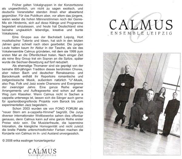 Foto: Informationen zum Calmus-Ensemble, Leipzig