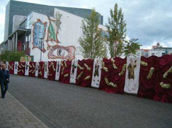 Händelgalerie vor der Händelhalle