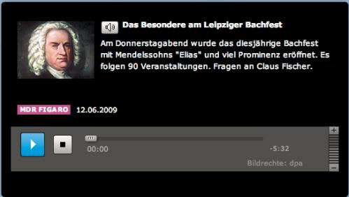Interview: Das Besondere am Leipziger Bachfest vom 12.6.2009 MDR