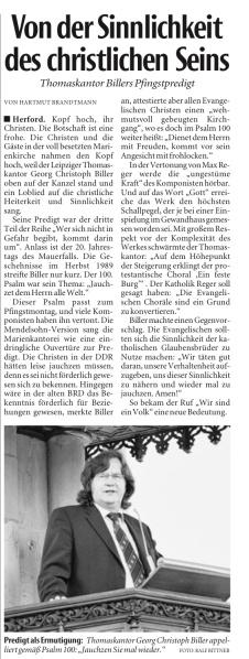 Thomaskantor Georg Christoph Biller in St. Marien Herford