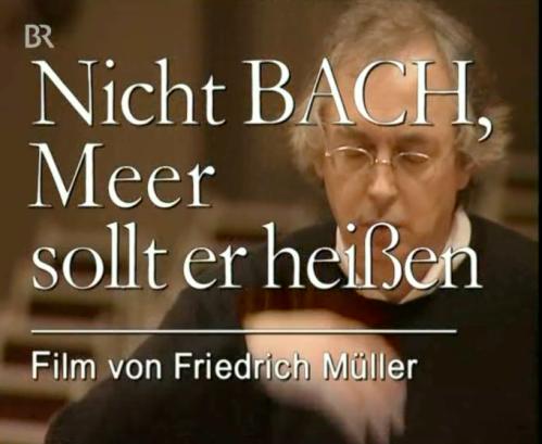 Flyer vom BR-Fernsehen - Dokumentation über J.S. Bach