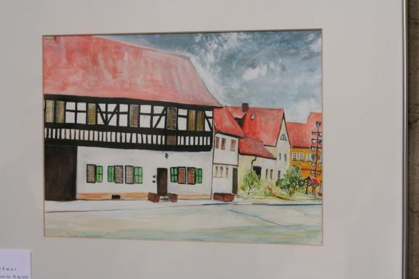 Bildrechte: Künstler Eberhard Vater - Stammsitz der Bache - Wechmar