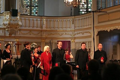 Die vier Solo-Sänger vom Magdalena Consort