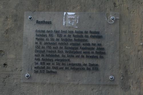 """Das """"Renthaus"""", Wohnsitz von Johann Christoph Friedrich Bach (Fotorechte: V. Hege)"""