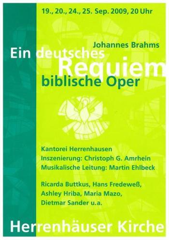 Kantorei Herrenhause Brahms Ein deutsches Requiem op.45