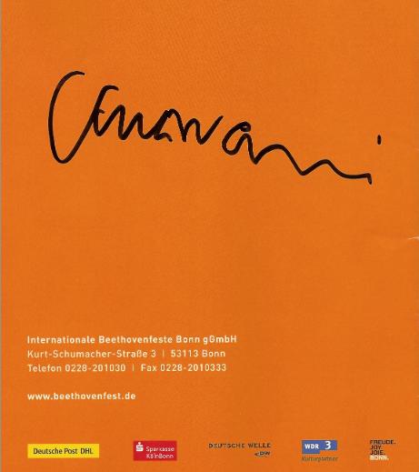 Original-Autogramm von Sir J.E. Gardiner, Bonn