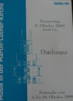 Flyer Orgel-Vesper Martin-Luther-Kirche Detmold
