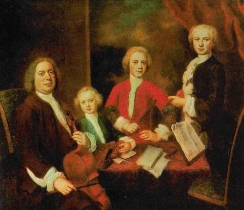 Johann Sebastian Bach mit Familie