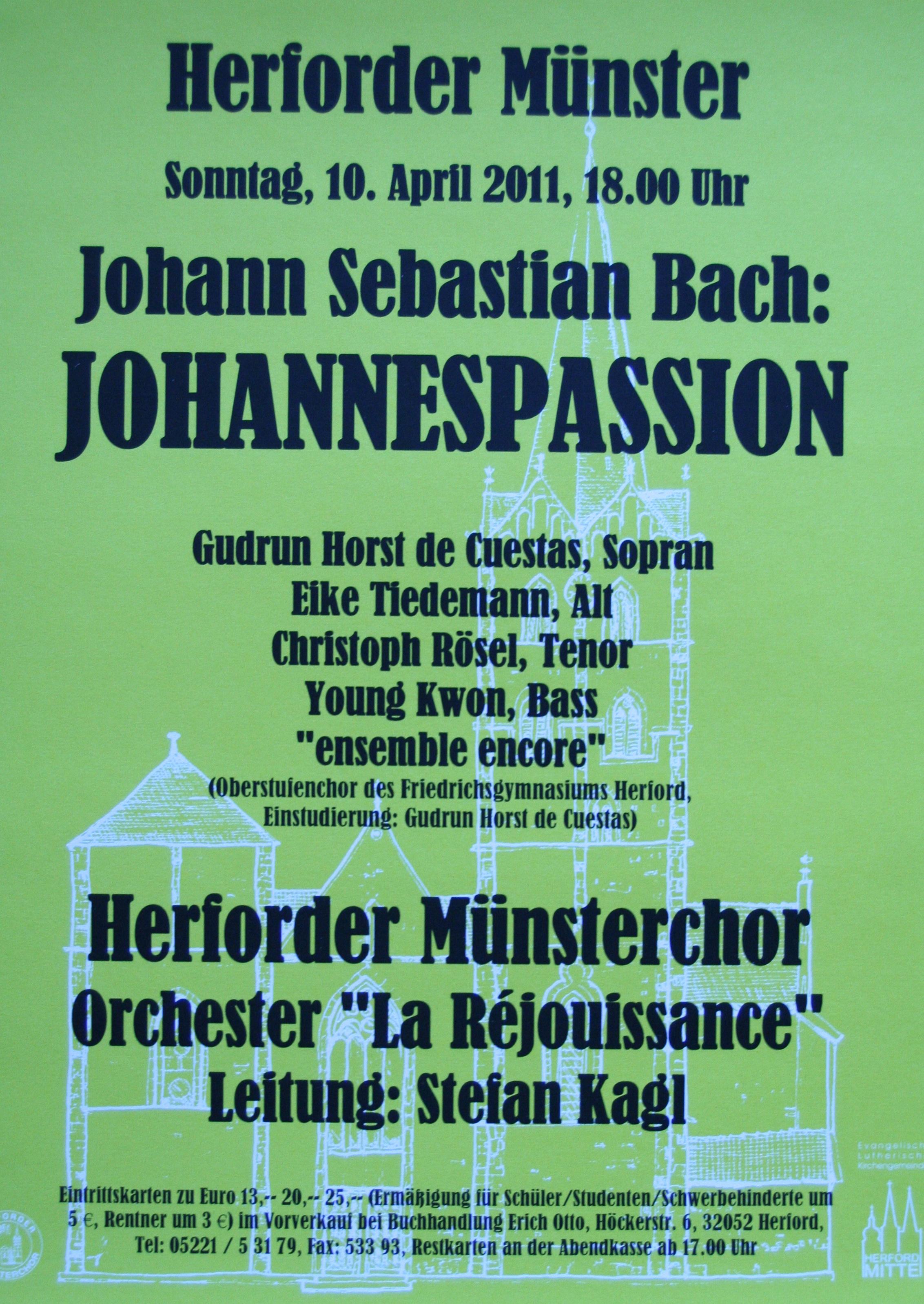You Tube Bach Johannespassion Suzuki