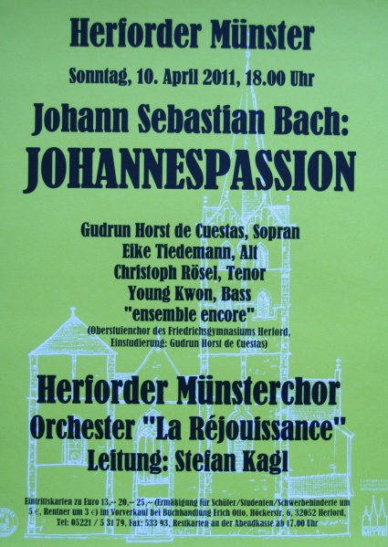 Johannes Passion im Herforder Münster