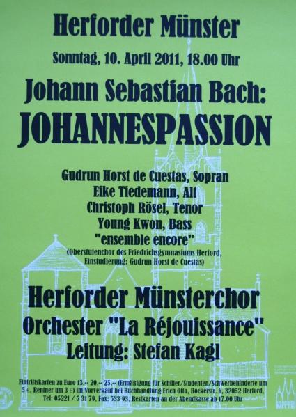 Johannes Passion im Herforder Münster