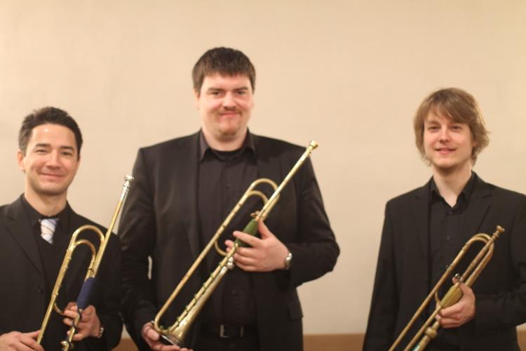 Die Bläsergruppe aus Detmold mit Natur-Trompeten