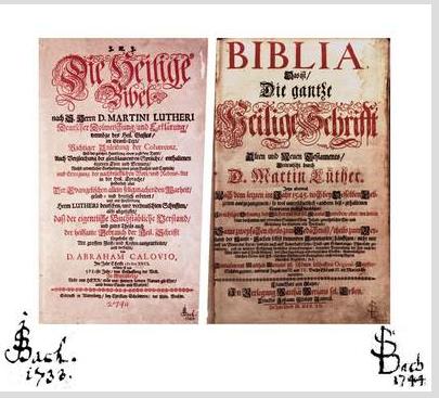 Johann Sebastian Bach's Bibeln
