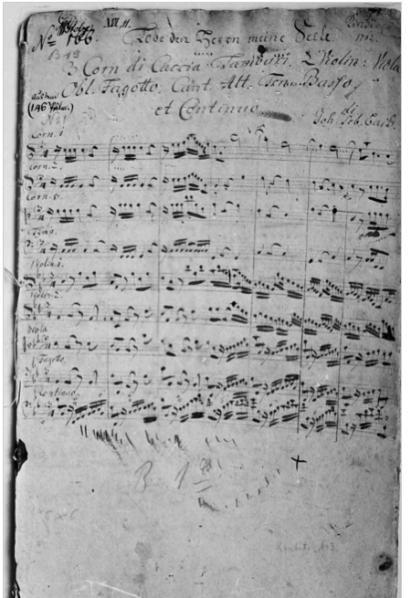 "Faksimile - ""Lobe den Herrn, meine Seele"" - BWV 143"