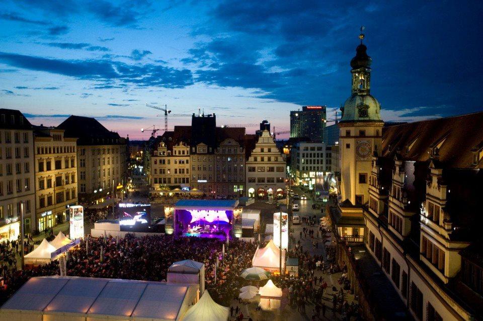 Open-Air auf dem Marktplatz zum Bachfest 2012 Leipzig