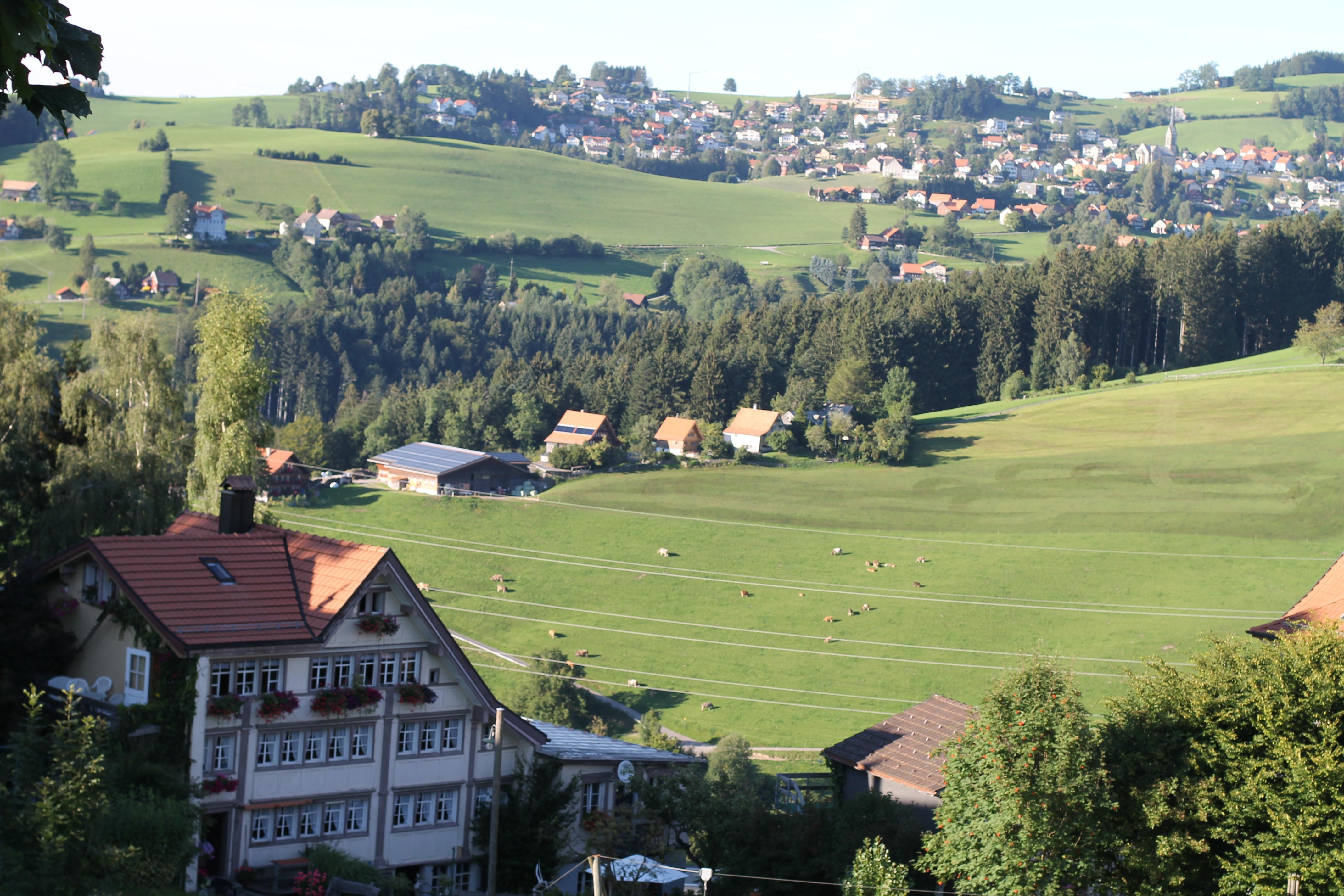 Das herrliche landschaftliche Umfeld von St. Gallen-Trogen
