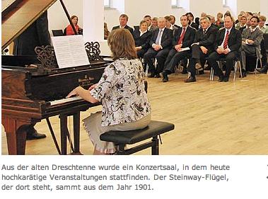 """Ehemalige Dreschtenne jetzt als Konzertsaal """"Abtei Marienmünster"""""""