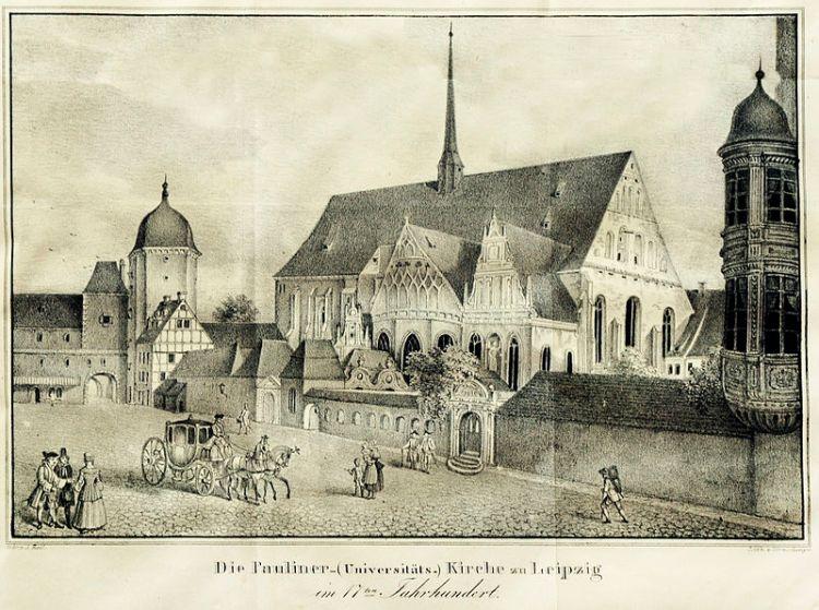Ehemalige Pauliner - Universitätskirche Leipzig um 1839