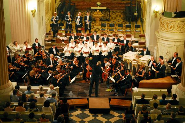 Bachfest 2007 Leipzig Der Monteverdi Choir und die English Baroque Soloists unter der Leitung von Sir John Eliot Gardiner in der Nikolaikirche_© Gert Mothes