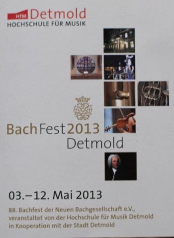 BachFest 2013 Detmold