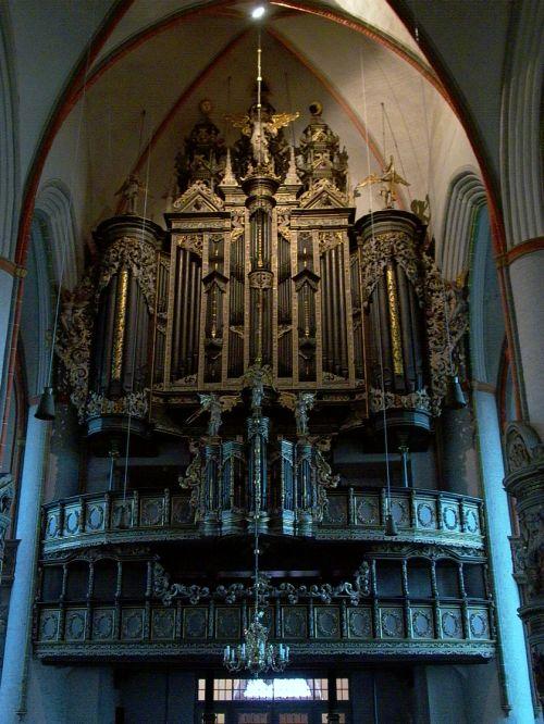 1551-53 Bau der großen Brabant-Renaissance-Orgel durch Hendrik Niehoff in Hertogenbosch 1652 Überholung und Vergrößerung der Orgel durch Friedrich Stellwagen aus Lübeck 1712-15 Umbau und Erweiterung durch Matthias Dropa 1852 Umbau durch Eduard Meyer 1922