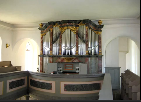 Hildebrand-Orgel in Störmthal Orgelabnahme am 2. November 1723 durch J.S.Bach