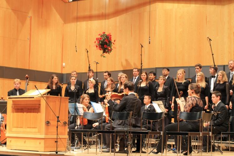 Vokalsolisten-Ensemble der Barockakademie HfM Detmold. Leitung Prof. Gerhard Weinberger