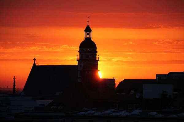 Abendstimmung an der Thomaskirche in Leipzig
