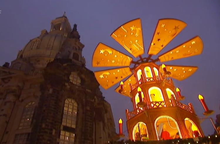 Adventsstimmung an der Frauenkirche Dresden