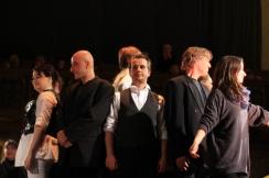 Links im Bild als Engel Sopranistin Friederike Weritz - Mitte als Evangelist - Markus Gruber -Tenor