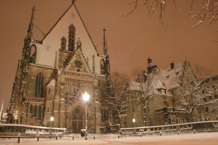 Thomaskirche Leipzig im Winter Fotorechte: © StadtBild Deutschland