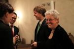 Kantorin Waltraud Huizing und das junge Trompeten-Ensemble