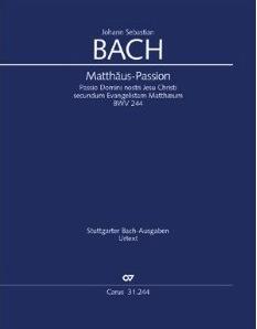 Partitur Matthäus-Passion