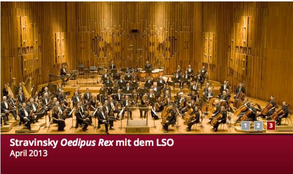 Stravinsky-Programm mi dem LSO und Monteverdi Choir