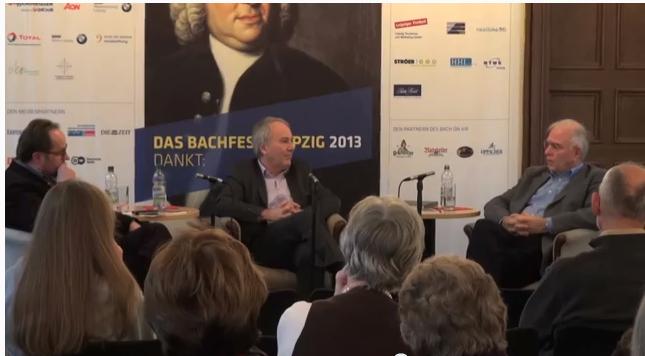 "1. Gesprächsrunde Bachfest 2013 ""VITA CHRISTI"" Bach Archiv Leipzig"