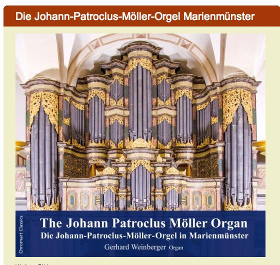 CD-Cover: Die Johann Patroclus Möller Orgel Abtei Marienmünster. Einspielung Gerhard Weinberger