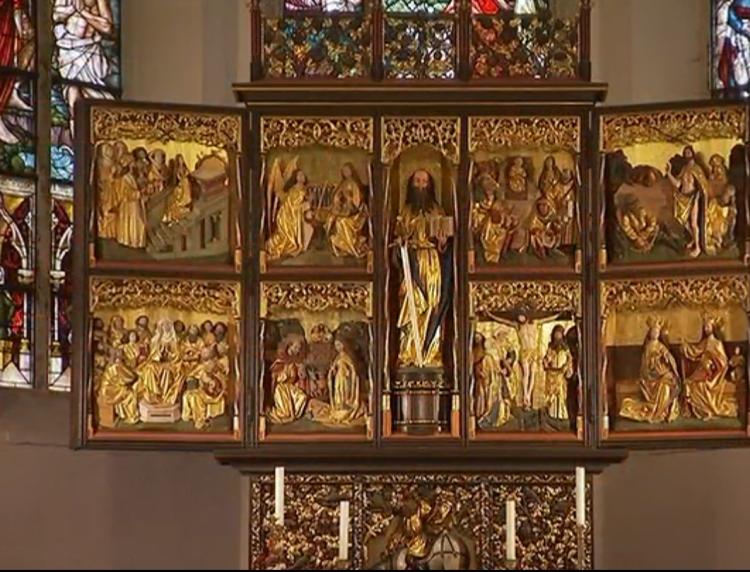 Altar in der Thomaskirche Leipzig
