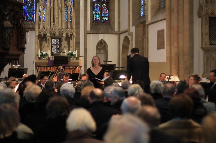 Mezzosopran: Nicole Pieper beim 10. NWD-Stifterkonzert in der Marienkirche Herford am  3. März 2013