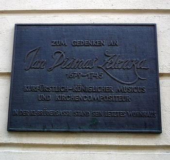 Gedenktafel Jan Dismas Zelenka - am Wohnhaus in Dresden