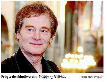 Chorleiter, Dirigent und Dozent Prof. Wolfgang Helbich am 8.4.2013 in Kassel verstorben