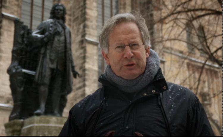 J.E. Gardiner im Februar 2013 in Leipzig auf den Spuren von J.S. Bach