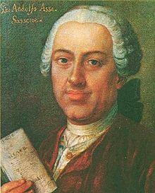 Johann Adolph Hasse (1699-1783) deutscher Komponist des Spätbarock