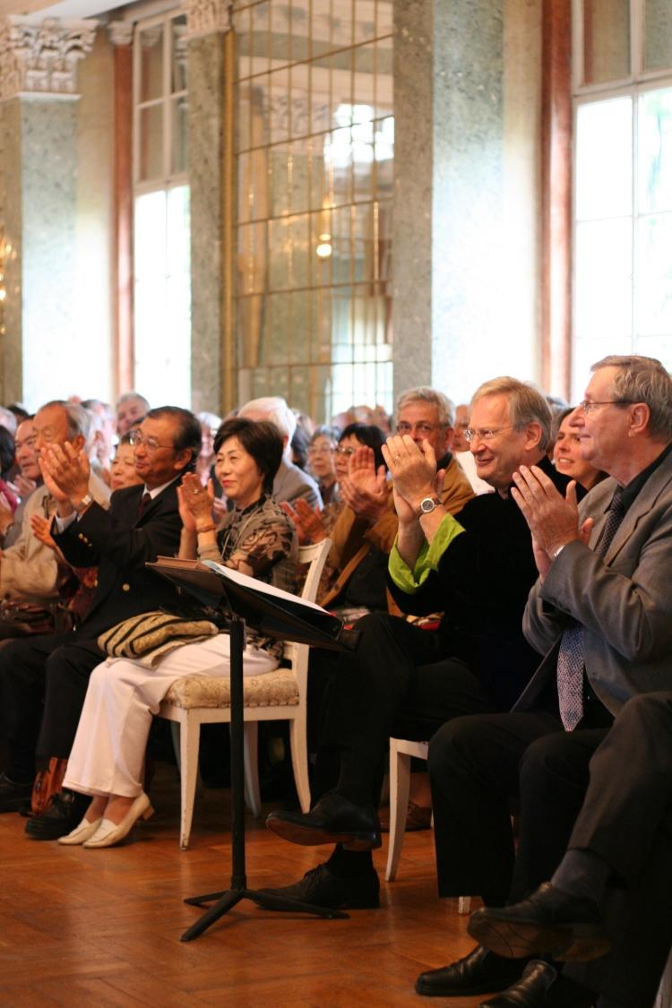 Spiegelsaal Schloss Köthen Sir John Eliot Gardiner beim Köthener Bachfest 2008 am 5.9.2008 mit den Brandenburgischen Konzerten I - VI