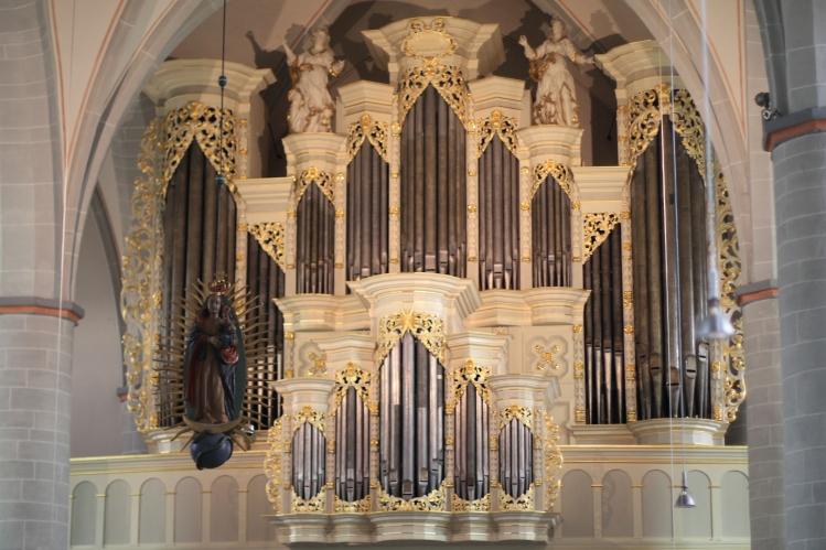 Historische Barocke Springladen-Orgel in der St. Johannes Baptist-Kirche Borgentreich